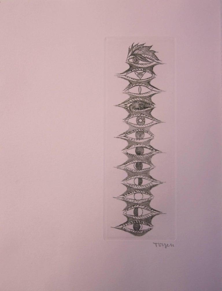 Omnipresent Glance - Original handsigned etching, 1967
