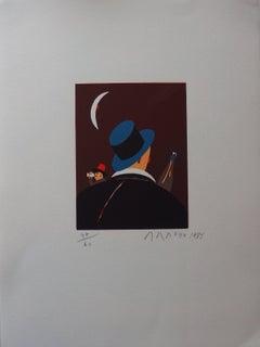 Night Owls - Original handsigned lithograph - 60 copies