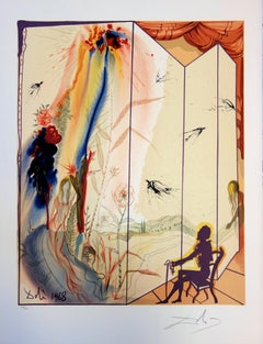 Marquis de Sade : The Twins Outwit Damis - Handsigned lithograph