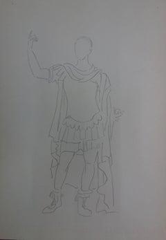 Augustus : Antique Greek costume - Original Pencil Drawing