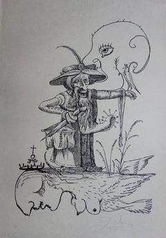 Pantagruel : Plate 12 - The Wizard - Original handsigned lithograph