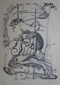 Pantagruel : Plate 22 - The Bug Lady - Original handsigned lithograph