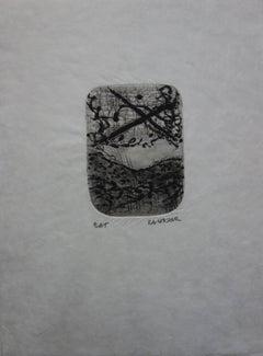 Dreamy Landscape - Original etching with aquatint - Handsigned