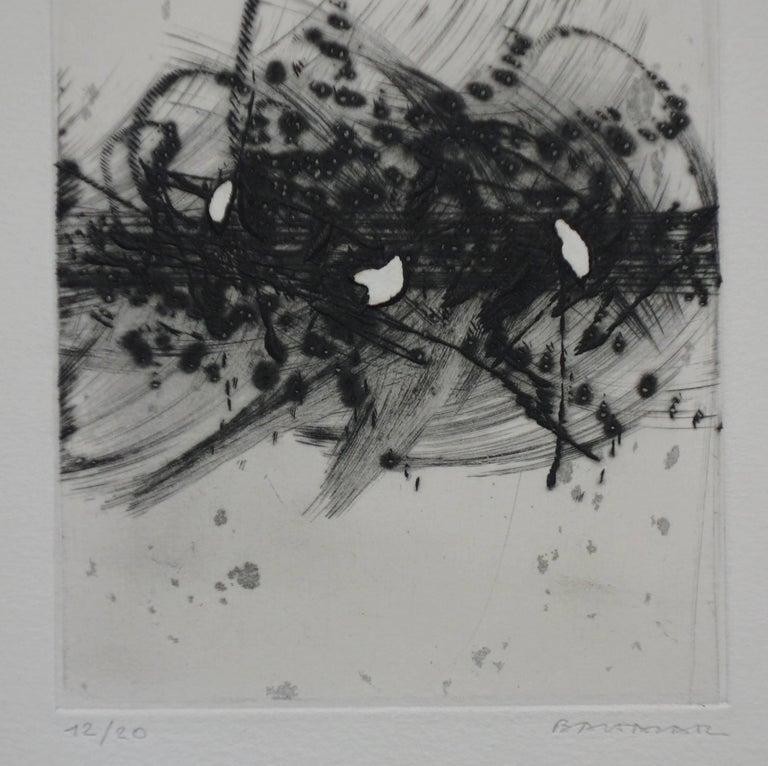 Storm - Original etching - Handsigned - Abstract Print by Julius Baltazar