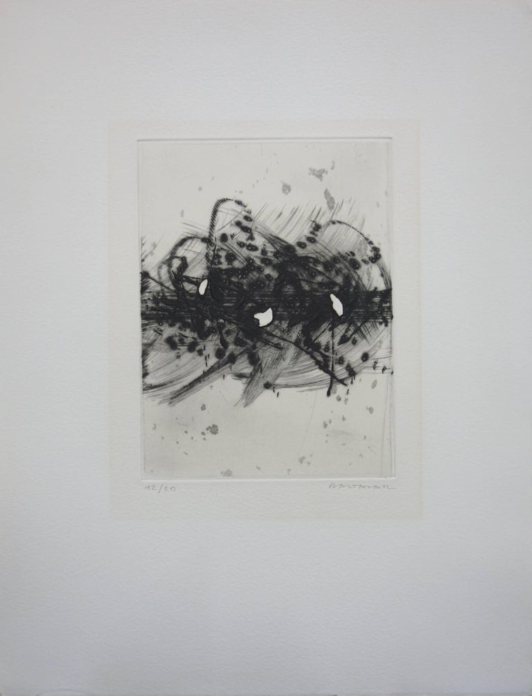Julius Baltazar Abstract Print - Storm - Original etching - Handsigned