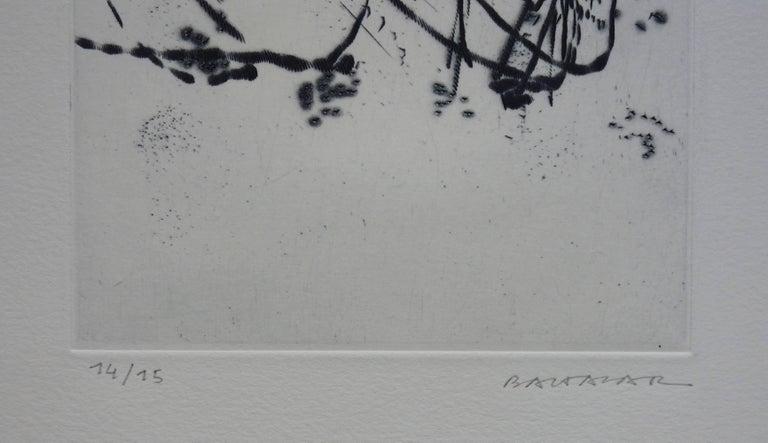 Spring Breeze - Original etching - Handsigned - Abstract Print by Julius Baltazar