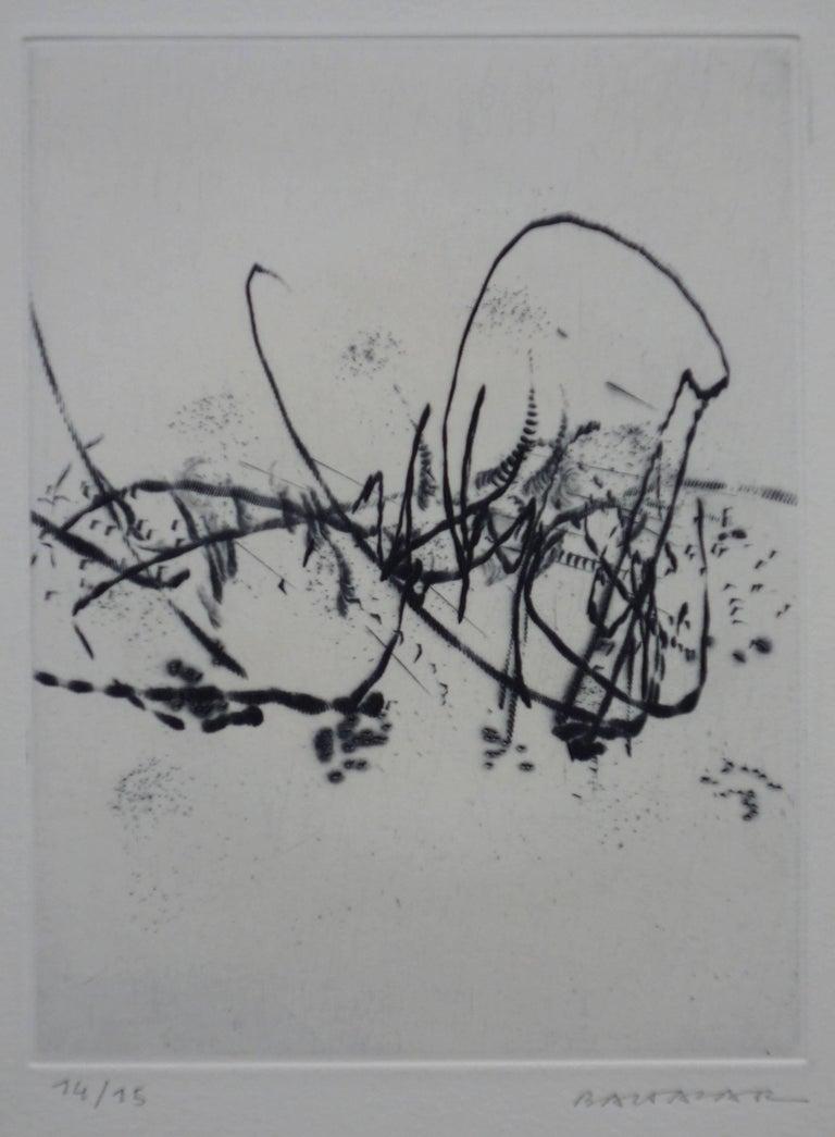 Spring Breeze - Original etching - Handsigned - Print by Julius Baltazar