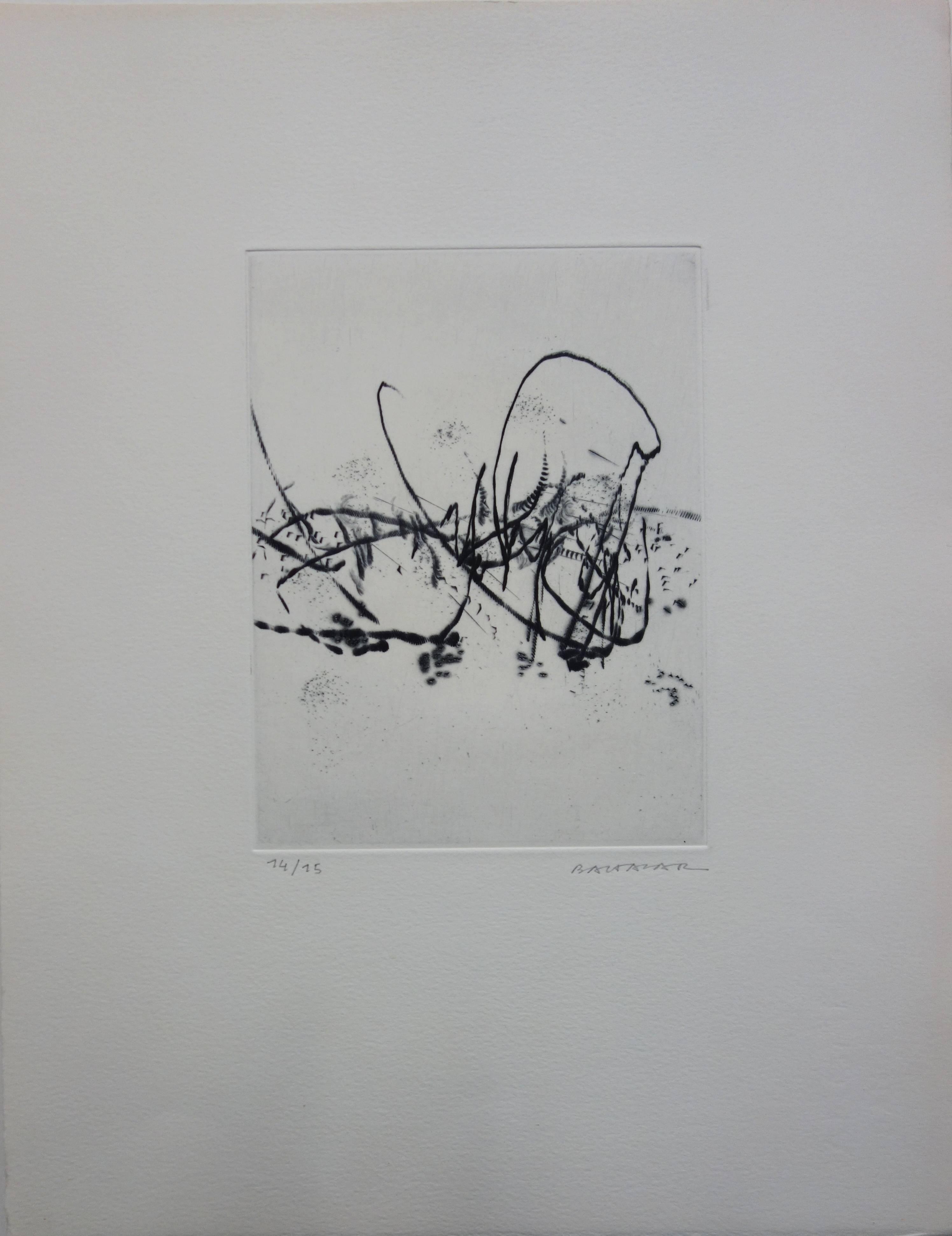 Spring Breeze - Original etching - Handsigned