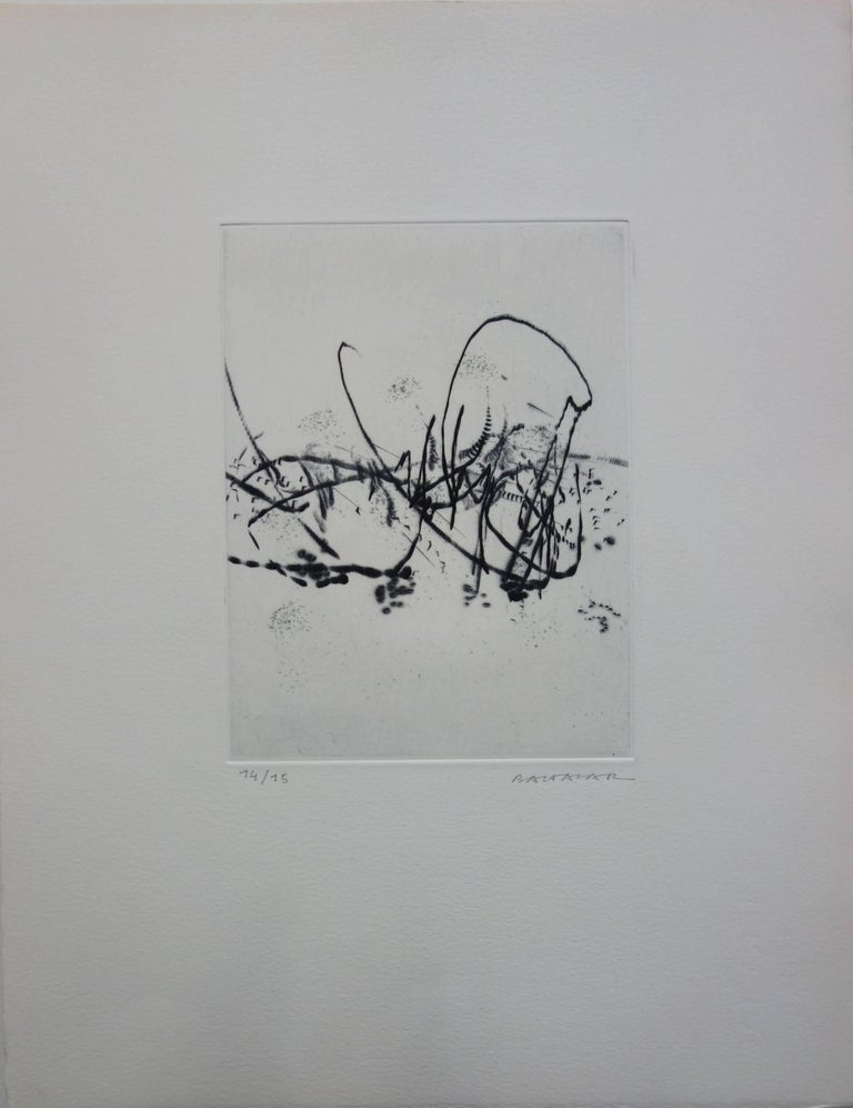 Julius Baltazar Abstract Print - Spring Breeze - Original etching - Handsigned