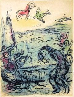 Odyssey : Odysseus and his Friends - Original lithograph - Mourlot #797