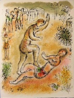 Odyssey : Fight of Odysseus and Iros - Original lithograph - Mourlot 1975