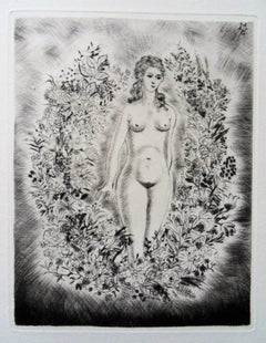 Woman in my Dreams - Original etching, 1943