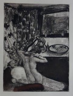 Intimate Bath - Etching, 1935