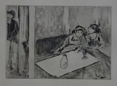 Whorehouse Scene : Champagne Before Love - Etching