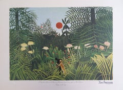 Virgin Forest with Sunset - Lithograph - 300ex