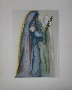 Heaven 32 - Preparation for the Final Prayer - woodcut - 1963