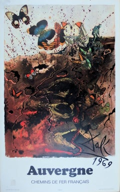 Butterfly suite : Auvergne - lithograph - Tall size, 1969