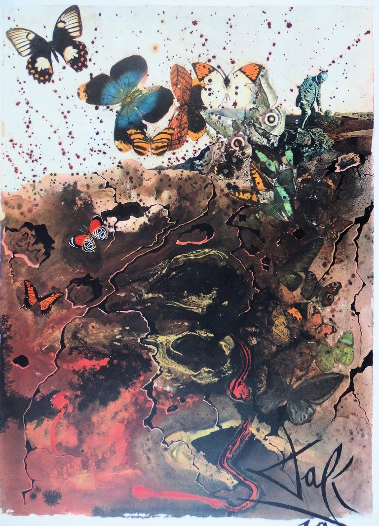 Butterfly suite : Auvergne - lithograph - Tall size, 1969 - Surrealist Print by (after) Salvador Dali