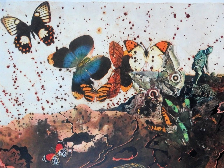 Butterfly suite : Auvergne - lithograph - Tall size, 1969 - Gray Animal Print by (after) Salvador Dali