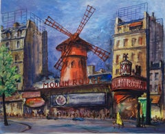 Paris : Moulin Rouge of Montmartre - Original watercolor