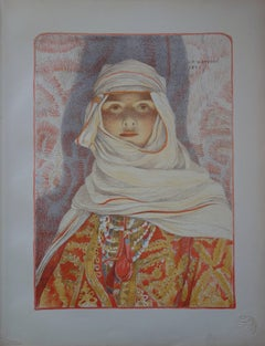 Oriental Woman (Femme du Riff) - original lithograph (1897-1898)