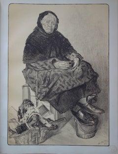 The Old Tradeswoman - original lithograph (1897-1898)