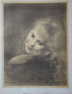 Laughing Girl - original lithograph (1897-1898)