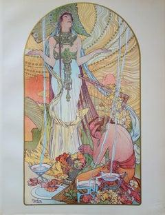 Incantation - original lithograph (1897-1898)