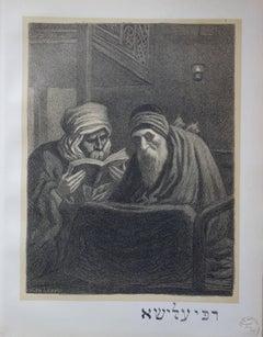 Rabbi Elisha the Blind - Original lithograph (1897/98)