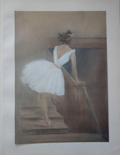 Ballerina in the Stairs - Original lithograph (1897/98)