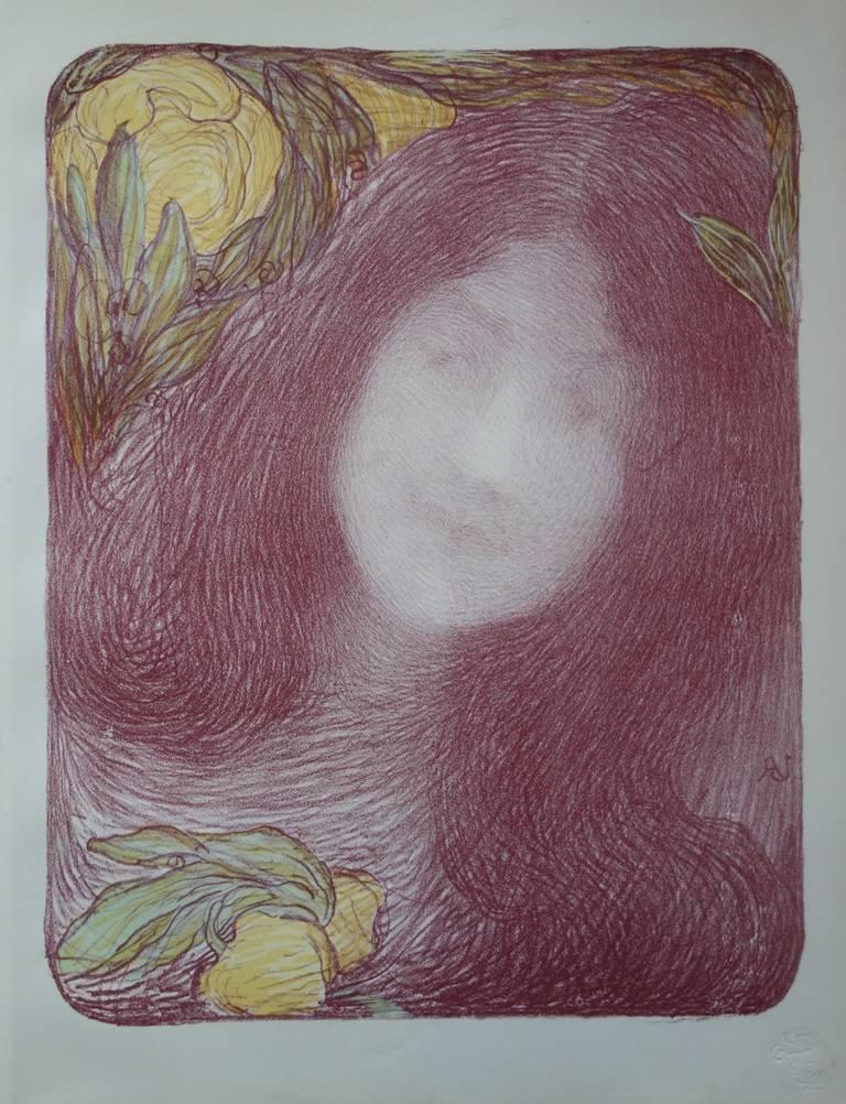 Sous les fleurs - Original lithograph (1897/98)