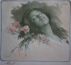 Albine (Asleep Woman) - Original lithograph (1897/98)