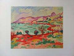Marseille : L'Estaque Landscape - Lithograph, 1972