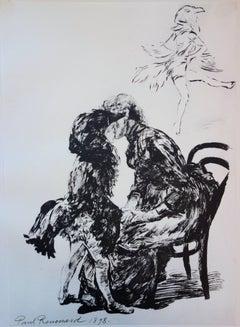Before the Ballet - Original lithograph - 1897