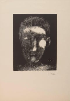 Boy's Head - Orginal Etching Handsigned - 50 copies