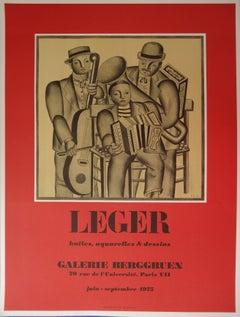 Music : The Orchestra - Lithograph poster - Berggruen / Mourlot 1975
