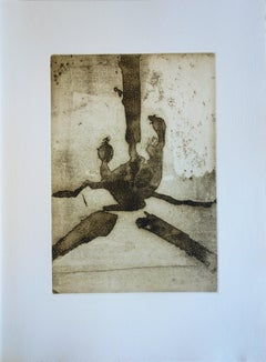 Abstract Composition - Original color Etching and Aquatint - 1967