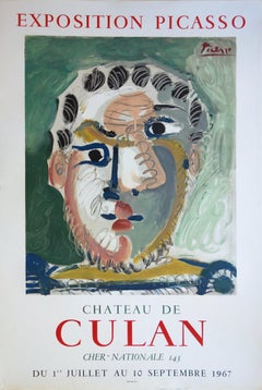 Man with a Beard - Vintage lithograph poster - Mourlot / Czwiklitzer #308