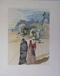 Purgatory 20 : Avarice et extravagance - Color woodcut - 1963