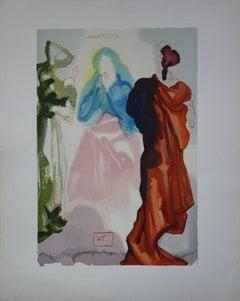 Heaven 33 : Prayer of Saint Bernard - Color woodcut - 1963