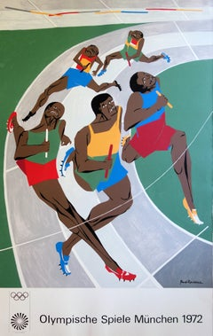 The Relay Race : Passing the Baton  - Lithograph (Olympic Games Munich 1972)