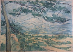 Provence : Sainte Victoire Mountain - Etching and aquatint engraved by J. Villon