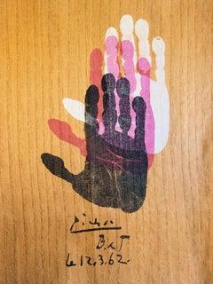 Hand of the Artist - Original lithograph - 1962