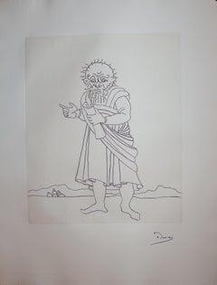 The Messenger - Original etching - 1951