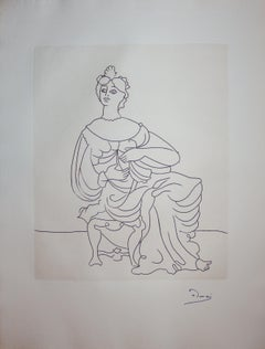 Antic Beauty - Original etching - 1951