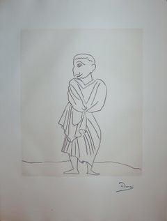 Roman in Antic Costume  - Original etching - 1951