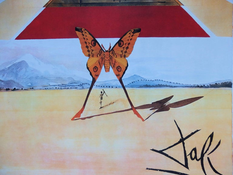 Butterfly suite : Roussillon - Original lithograph - Tall size, 1969 - Print by (after) Salvador Dali