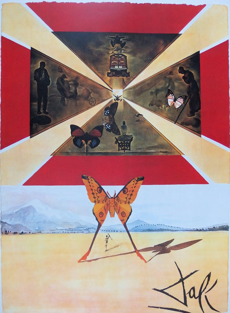 Butterfly suite : Roussillon - Original lithograph - Tall size, 1969 - Surrealist Print by (after) Salvador Dali