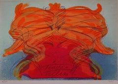 Monument for Federico Fellini - Original handsigned lithograph - 100 ex