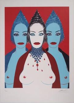 Three Nudes - Original handsigned lithograph - 100 ex